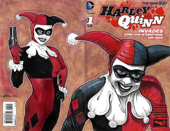 Harley Quinn SDCC back/front cover