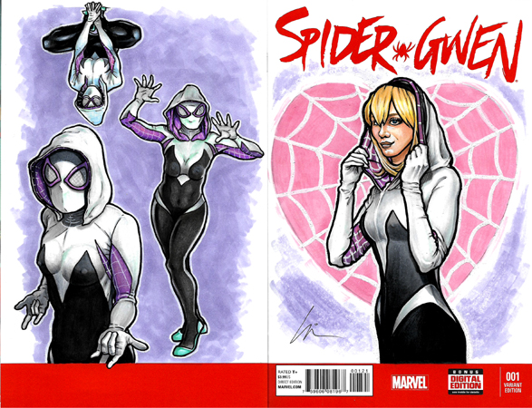 Spider-Gwen front and back