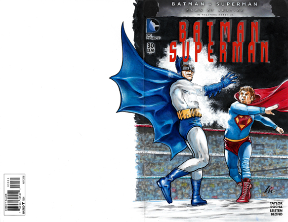 Batman VS Superking back/front cover