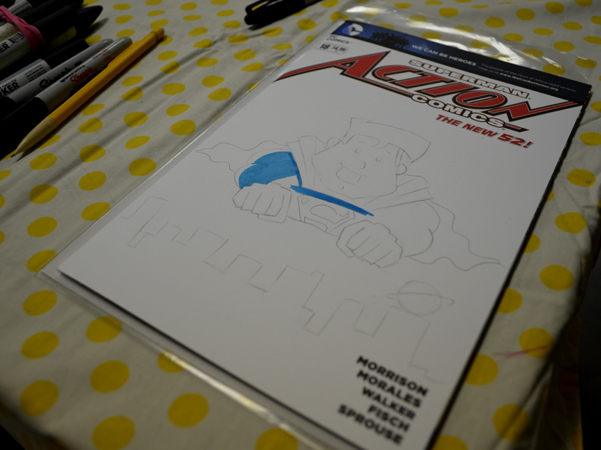 Action Comics sketch
