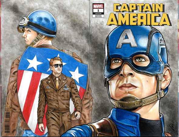 Chris Evans/Captain America bk/fr