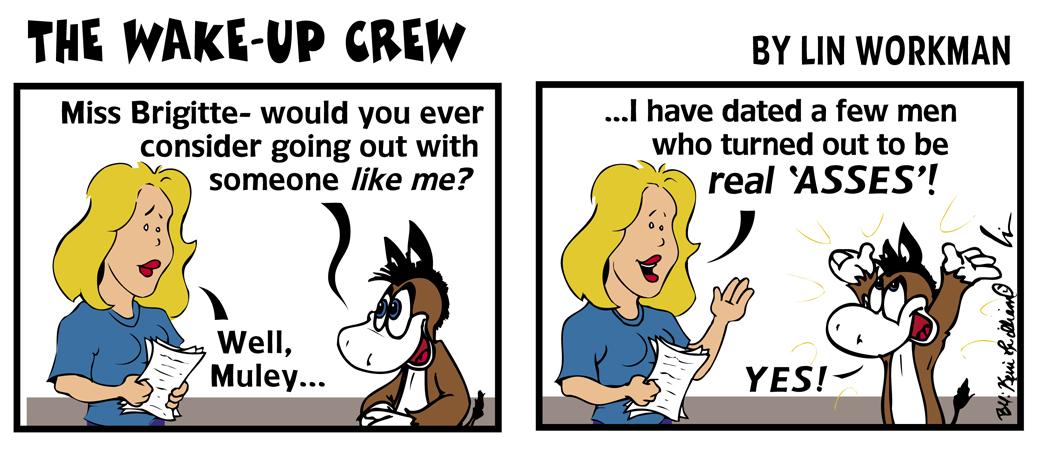 Wake-Up Crew Brigitte and Muley The Mule