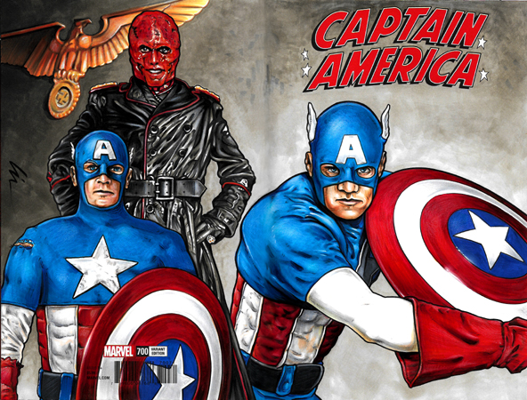 Captain America/Red Skull bk/fr