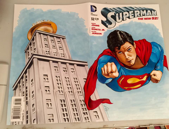 Superman front cover finished