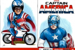 Reb Brown TV Captain America back/front cover