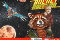 Rocket Raccoon/Baby Groot bk/fr