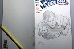 Superman front cover in progress 1