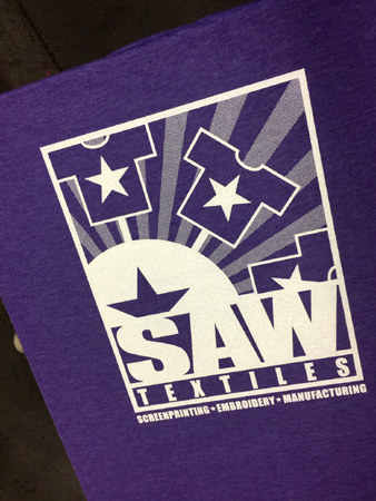 SAW Tee Purple