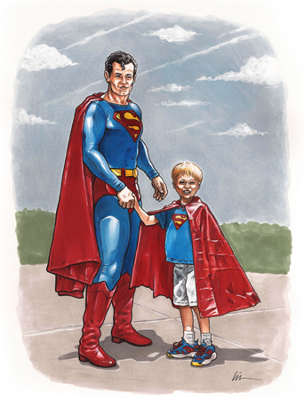 Superman Meets Superkid