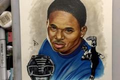 Walter Jones/Black Power Ranger marker illustration