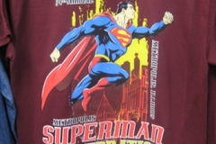 Superman Celebration 2012 maroon tee close