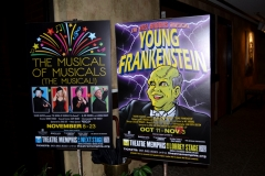 Young Frankenstein poster in lobby
