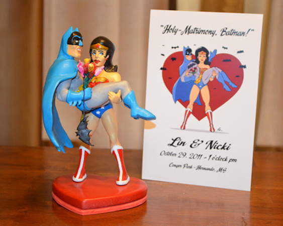 Wedding cake topper and invitiation