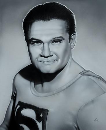 George Reeves bust