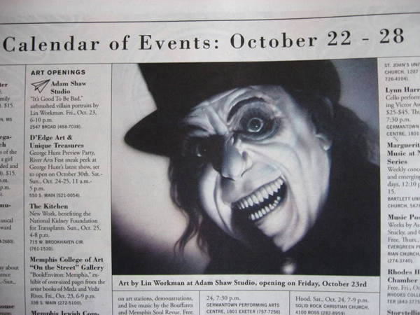 Monster Press Calendar of Events
