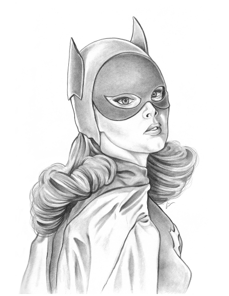 Yvonne Craig Batgirl Sketch by Lin Workman