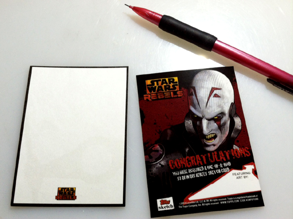 Rebels sketchcards