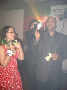 Kevin crowns the King and Queen of the Prom- Janet and Antone