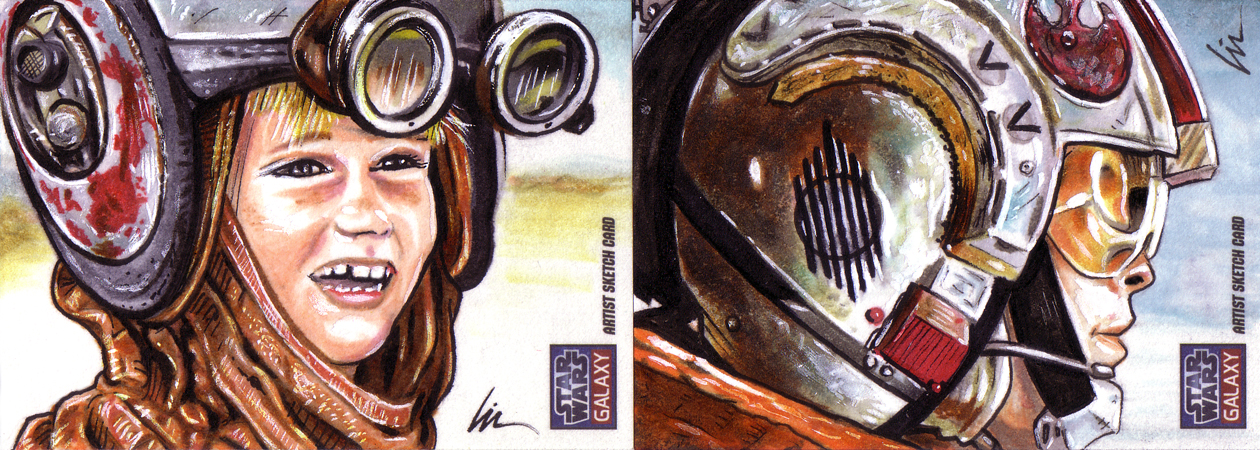 Like father, like son and like mother, like son- more Galaxy7 sketchcards