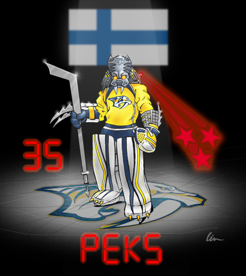 "Predator Hockey Mask Design Contest- Pekka Rinne as ""PREDA RINNE"""