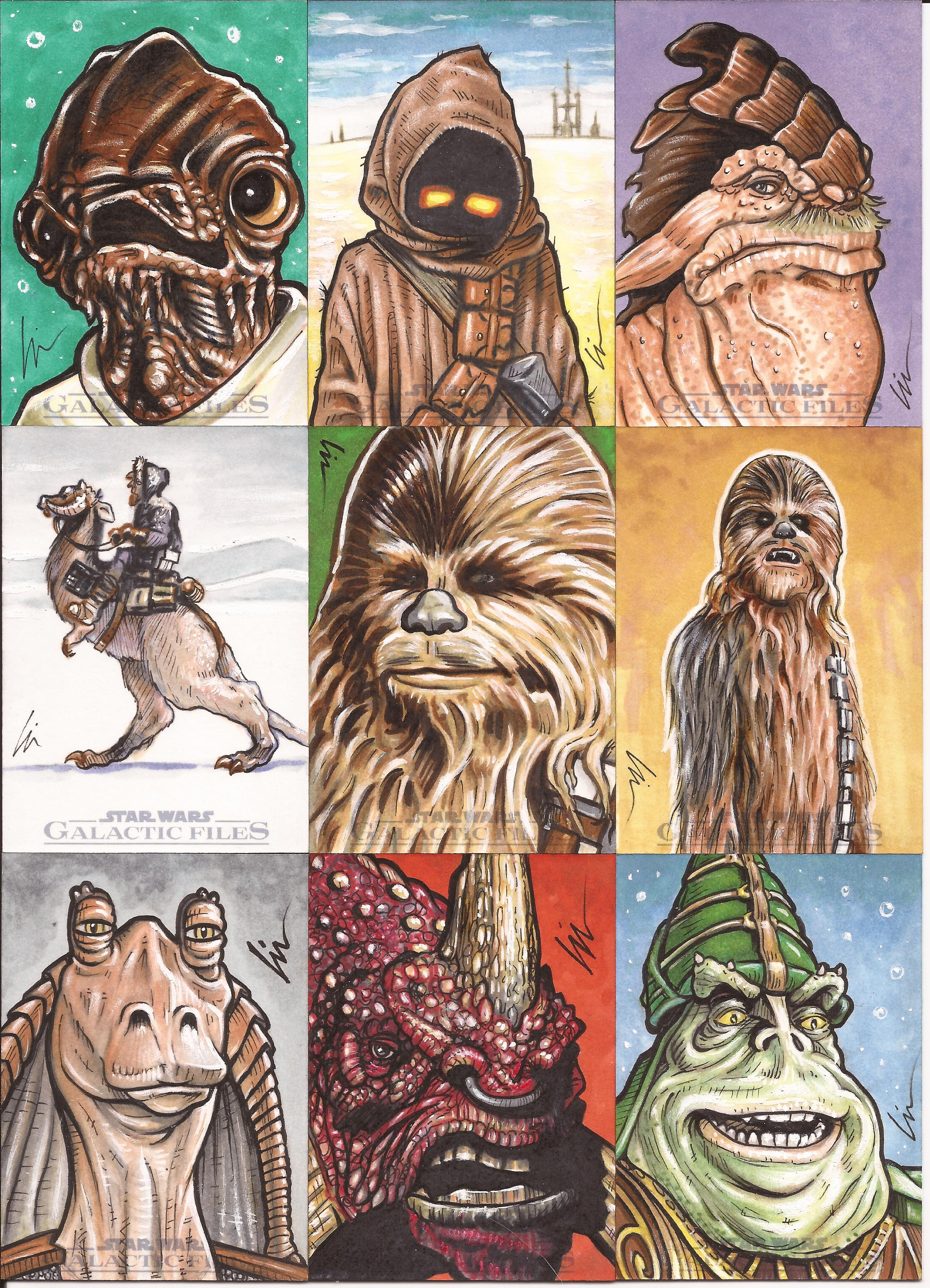 "Star Wars Galactic Files ep4- ""A New Hunk (of sketchcards!)"""