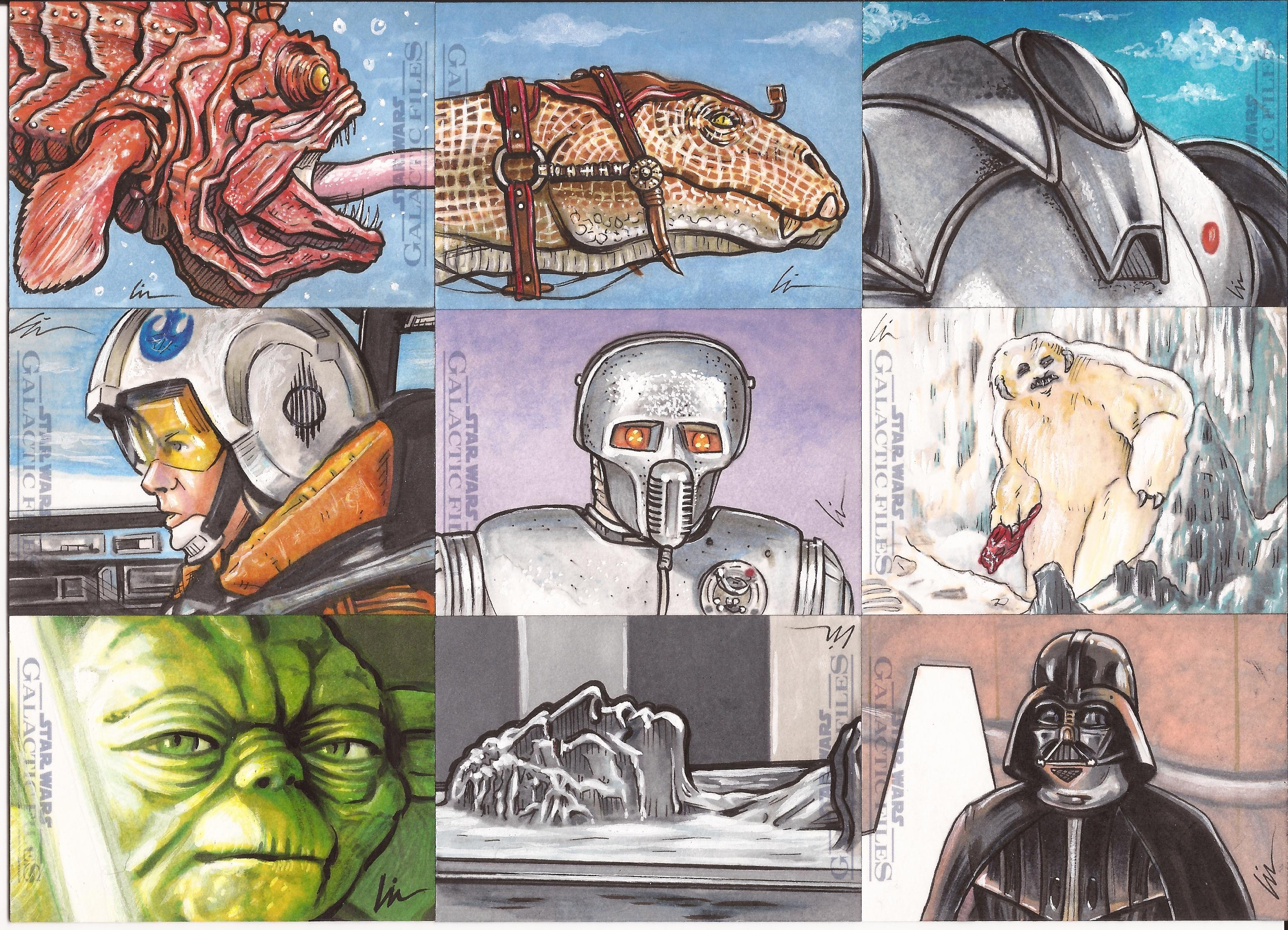 "Star Wars Galactic Files ep5- ""The Empire Draws Back"" (more sketchcards) and MARS ATTACKS in stores today!"