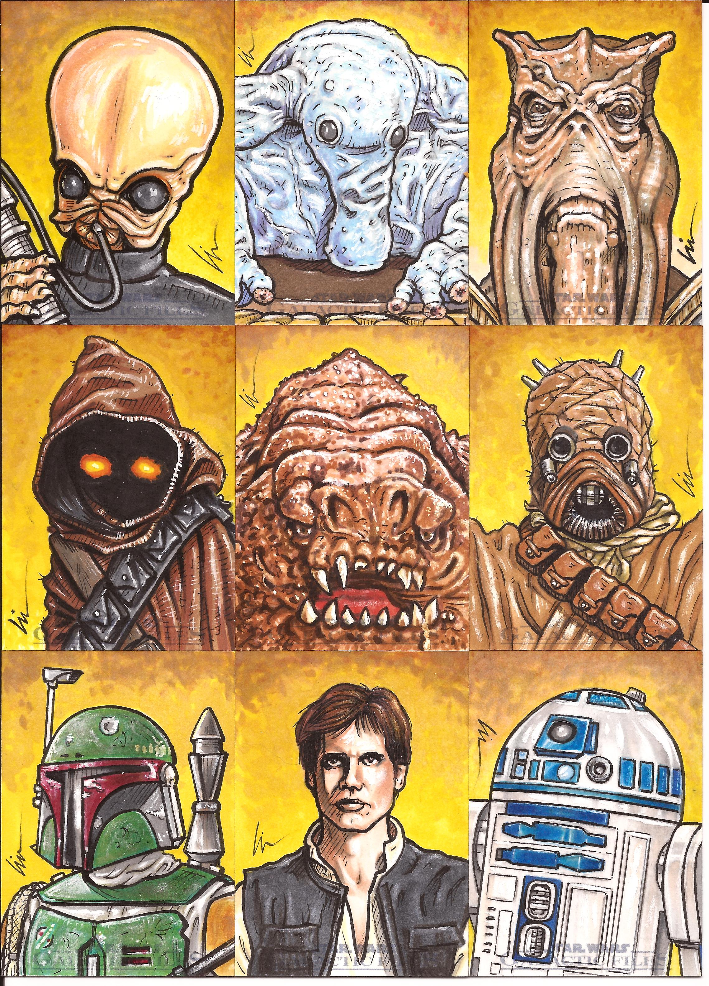 "Star Wars Galactic Files ep6- ""Return Of The Lefty!"" (More Sketchcards!)"
