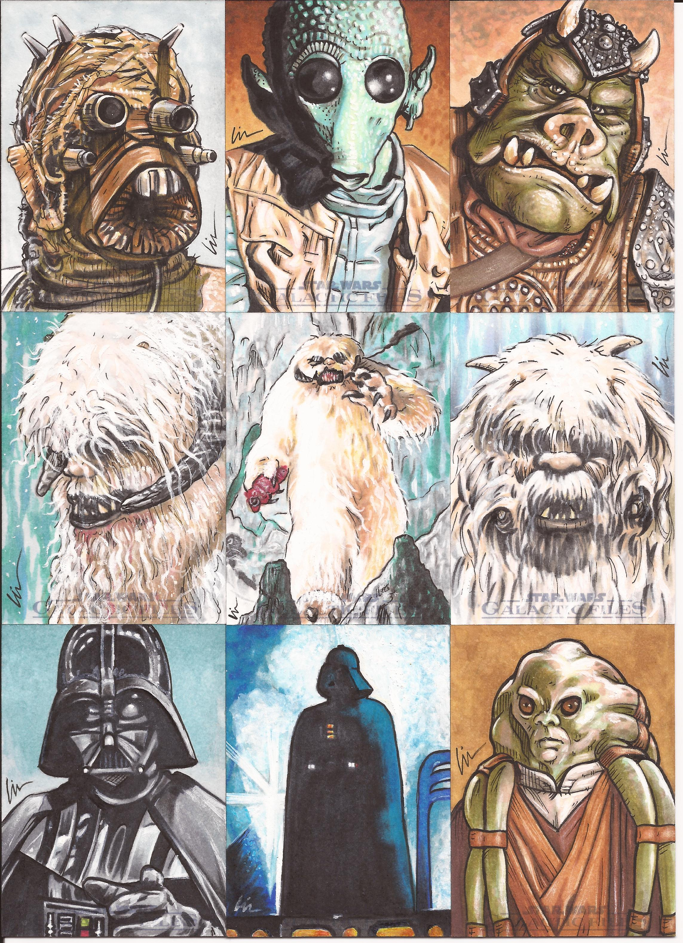 Star Wars Galactic Files Sketchcards- In The Home Stretch Now!