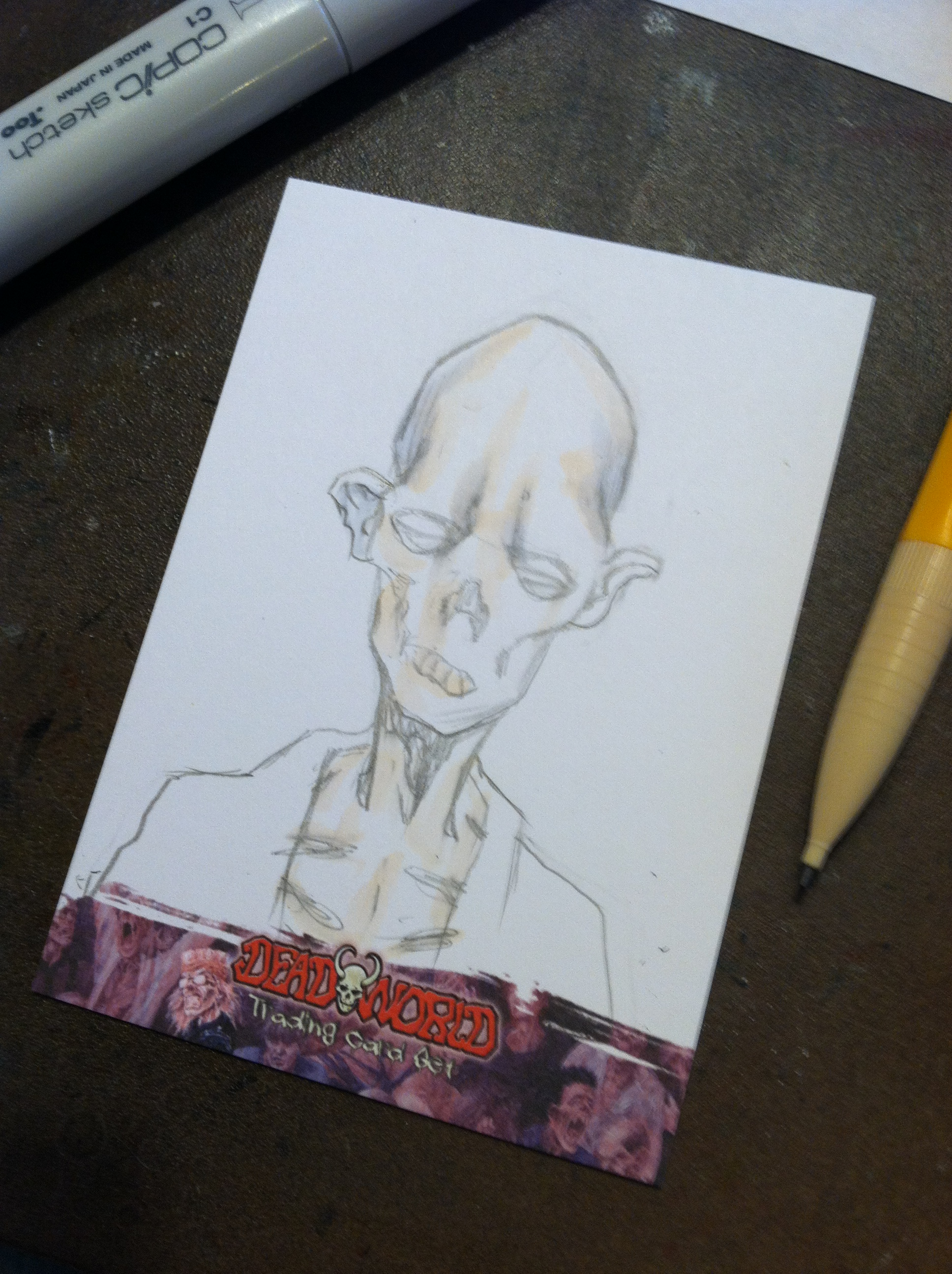 "Things are a bit DEAD around here- ""Deadworld"" sketchcards approved!"