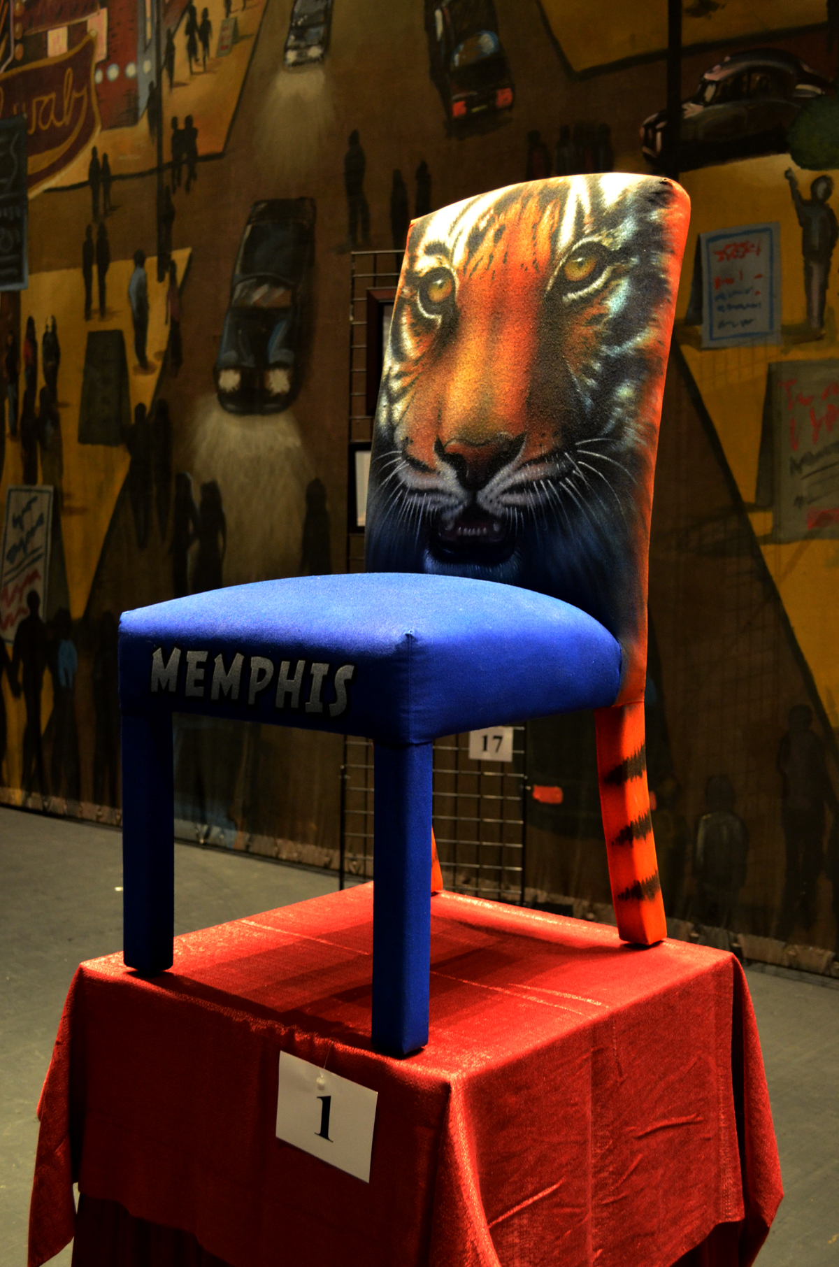 "My ""Go, Tigers- GO!"" chair goes for $1700.00 in the annual Orpheum auction!"
