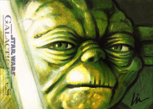 "Star Wars: Episode IV- ""The Galactic Files Returns"" or ""The Artist Returns Strike Back!"" My Topps sketchcards for sale."
