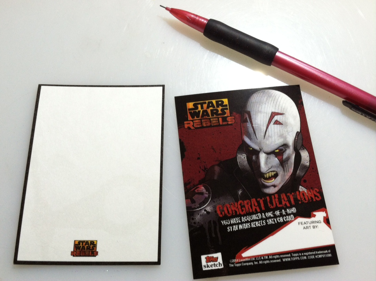 """You rebel scum!"" My Topps Star Wars Rebels Sketchcards"