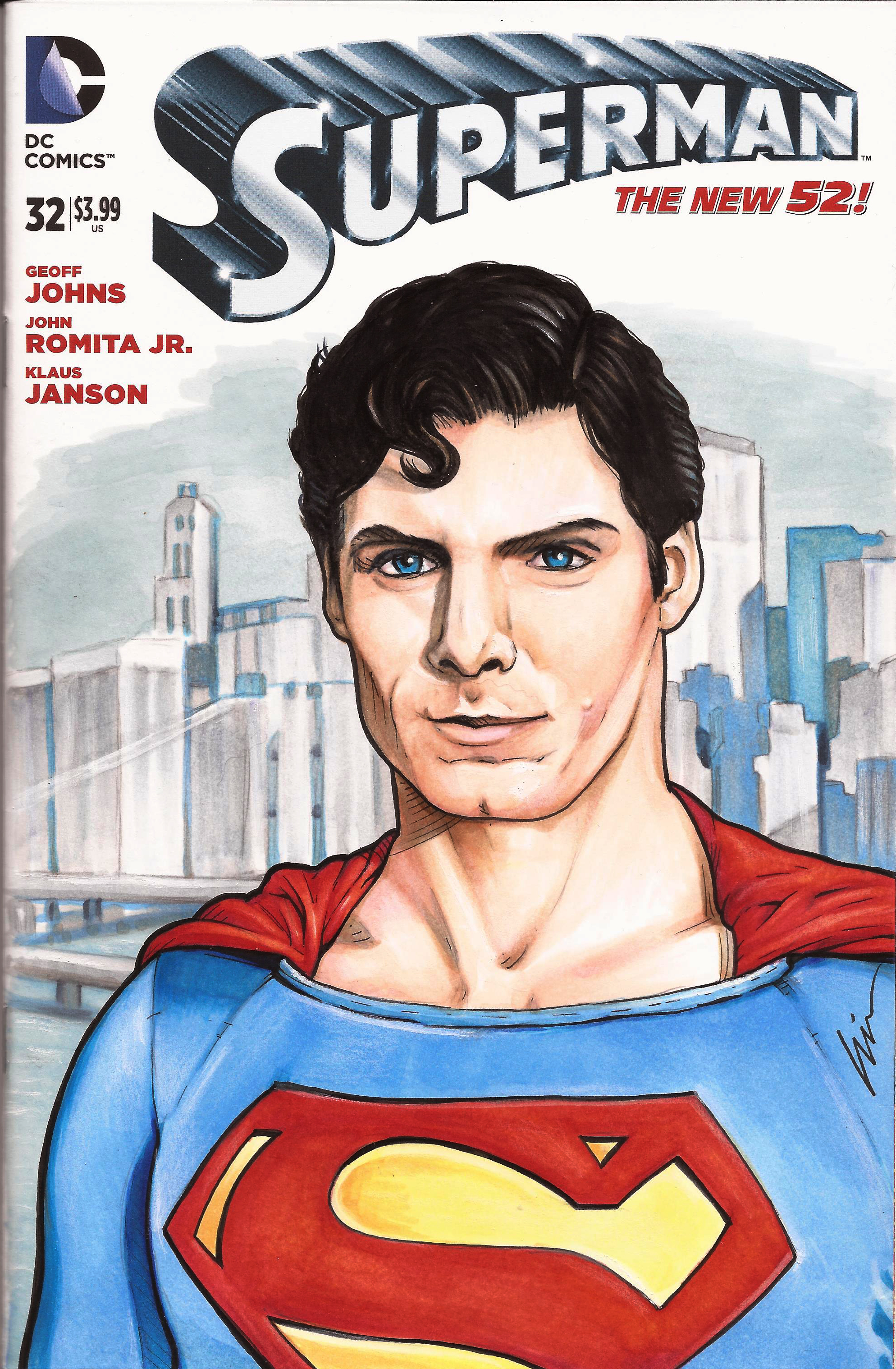 Just Super- my Christopher Reeve Superman Sketchcover