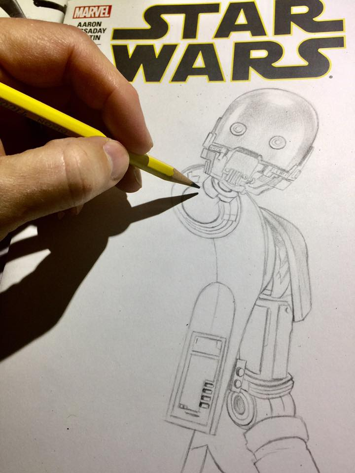 I Drew A K-2SO Star Wars Sketchcover- The Captain Said I Had To.