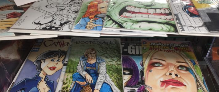 """It's Ladies Night!'- My Harley Quinn and 13th Doctor Sketchcovers"